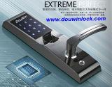 Cerradura de puerta de número de huella dactilar inteligente de acero inoxidable