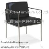 Cadeira de jantar de aço moderna Cadeira de jantar de metal Cadeira de jantar de aço Móveis de sala de estar