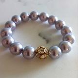 Mode bijoux Bracelet à breloque ronde éponge violet (XG-S133)