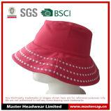 Pink Women Fashion Bucket Hat Chapéu de sol para adultos