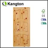 Porte intérieure en bois de pin de Radiata (KD03A) (porte en bois solide)