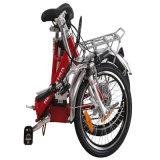 Bicicleta PAS E de 20 polegadas com bateria de íon de lítio