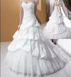 Merletto e vestito da cerimonia nuziale bianco (Tao-13)