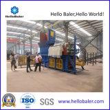 Horizontal automático hidráulico de residuos de papel prensa de balas de la máquina con el transportador