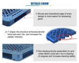 1200*1000*150 de in het groot Goedkope Enige Plastic Pallet van Rackable van het Gezicht