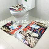Горячая продавая пена 3D памяти 2017 напечатала полового коврик ванной комнаты 3piece установленный