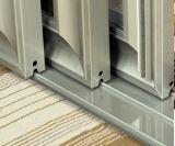 Finshing porte en aluminium à revêtement poudré