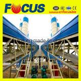 Grande pianta d'ammucchiamento concreta, impianto di miscelazione concreto del nastro trasportatore Hzs120