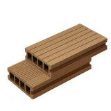 O Decking de WPC fixa o preço do revestimento composto plástico de madeira oco e Grooved