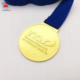 カスタム擬似金張りの金属は好意の実行メダルを押した