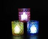 熱い販売法ホーム装飾のための多彩なイオンめっきの蝋燭の容器