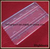 Placa de lustro desobstruída do vidro de quartzo da transformação mais ulterior com sulco