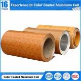 Polyester haute brillance du grain du bois de la bobine en aluminium peint pour le matériel de décoration