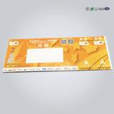 4色刷のカーボン複写用紙帳の熱ペーパーRFID切符