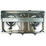 Stufa di gas calda della parte superiore di vetro Tempered di vendita di disegno piacevole Jp-Gcg303t