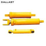 Cilindro hidráulico ativo dobro de aço inoxidável/cilindro do petróleo com tubulação redonda