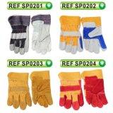 Перчатки коровы перчаток техники безопасности на производстве Split кожаный работая перчатки (SP0203)