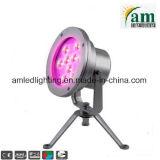 9*3W de cambio de color bajo el agua fuente de luz LED impermeable