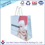 Custom white крафт-бумаги сувениры с логотипом печать подарочный пакет