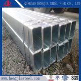 Sezione rettangolare d'acciaio galvanizzata tuffata calda della cavità del tubo