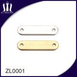 Etiqueta do metal da liga do zinco da boa qualidade para o saco
