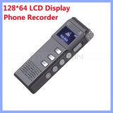 128*64 LCD Bildschirmanzeige-Digital-Sprachaufzeichnungsanlage-Telefon-Schreiber mit aufgebaut im Lautsprecher