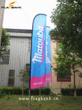 Bandeira do vôo da impressão de Digitas do Tradeshow do atacadista/bandeira de Swooper