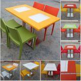 Los muebles siempre piedra artificial Superficie sólida de recuento de los alimentos mesa de restaurante