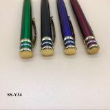 Fabricante de plumas Ballpiont Twist promocional Bolígrafo metálico