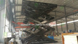 De hydraulische garage gebruikte lift van de autoschaar met draaischijf