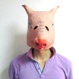 El cerdo enmascara la máscara principal completa animal del látex del partido de Víspera de Todos los Santos del látex