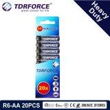 1.5V China Fertigung-Hochleistungsbatterie für Rauch Detetor (R6-AA 20PCS)