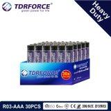 1.5V China Fertigung-Hochleistungsbatterie für Rauch Detetor (R03-AAA 30PCS)