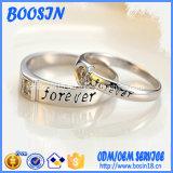 На заводе Custom выгравированными стерлингов Серебряное кольцо для свадьбы