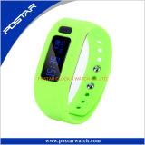 Monitor de frequência cardíaca Pedômetro Telefone inteligente Relógio de pulso Telefone celular Faixa de silicone