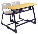 Sillas y escritorio para escritorio de /School del escritorio y de las sillas del metal de los muebles de escuela de 3 estudiantes y sillas de la escritura de la escuela de madera