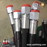 Flexible de la tresse de deux fils SAE 100 R2flexible/fr 853 2SN Le flexible hydraulique