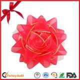 Regalo metálico de la hoja de la fabricación de China Regalo de la estrella de la Navidad de la cinta de los PP mini