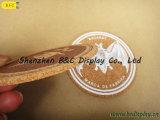 Vollständiges Sale Pure Cork mit Silk Printing Logo Round Cork Coaster mit SGS (B&C-G102)