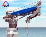 Enjue Cylinder-Luffing dobrável hidráulico e o Engate Telescópico Grua Pedestal Marinho
