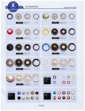 Teclas instantâneas para a roupa/vestuário/sapatas/saco/caso (tamanho: 7.5mm a 21mm)