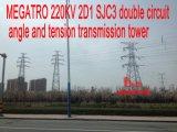 Башня передачи угла и напряжения цепи Megatro 220kv 2D1 Sjc3 двойная