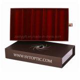 Подгонянный логос сползая коробку Eyewear коробки хранения индикации солнечных очков конструкции ящика упаковывая