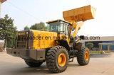 Machine de construction de 5 tonne chargeuse à roues avec commande pilote