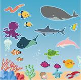 귀여운 아이들 재사용할 수 있는 스티커 책