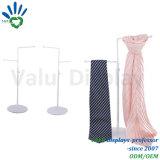 Cravate de 2 niveaux et crémaillère d'étalage de relation étroite avec des crochets
