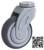 Der grauen Farben-medizinischer TPR Zoll Inch-5 Fußrollen-Rad-Krankenhaus-des Bett-3