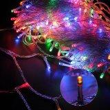 Excelvan sichere Modi der Niederspannungs-8 500 feenhafte Zeichenkette-Lichter LED-100m/328FT Dimmable mit transparenter Zeichenkette für Schlafzimmer-Patio-Gartentor-Yard-Partei-Hochzeit Chri