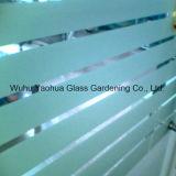 3mm 4mm 5mm травленое стекло 6mm замороженное и кисловочное для офиса
