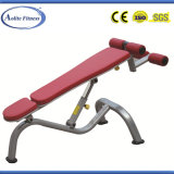 Equipos de gimnasio Instructor Abdominal ajustable negro / Banco de abdominales ajustable